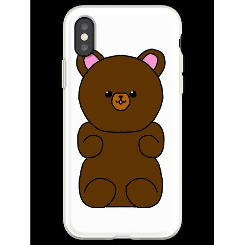 Teddybär flauschiges Stofftier Flexible Hülle für iPhone XS