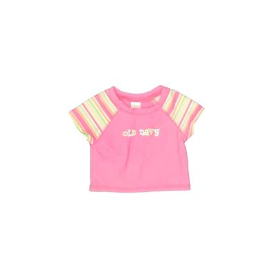 Old Navy Rash Guard: Pink Solid Sporting & Activewear - Size 12-18 Month