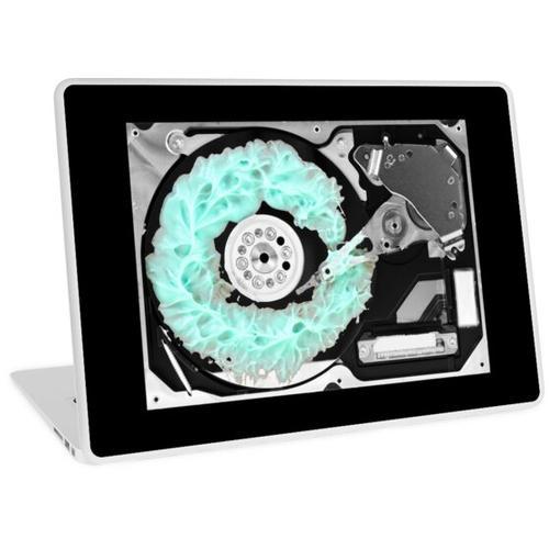 Reinigen Sie die Festplatte Laptop Skin