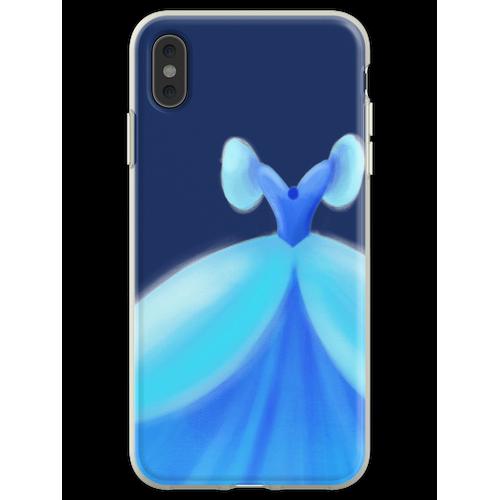 Blaues Ballkleid Flexible Hülle für iPhone XS Max