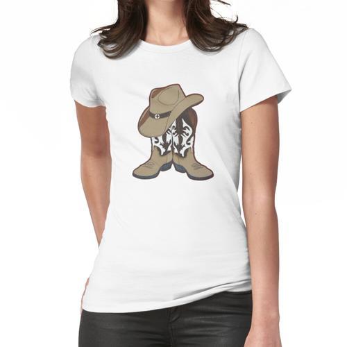 Country Time Stiefel und Hut Frauen T-Shirt