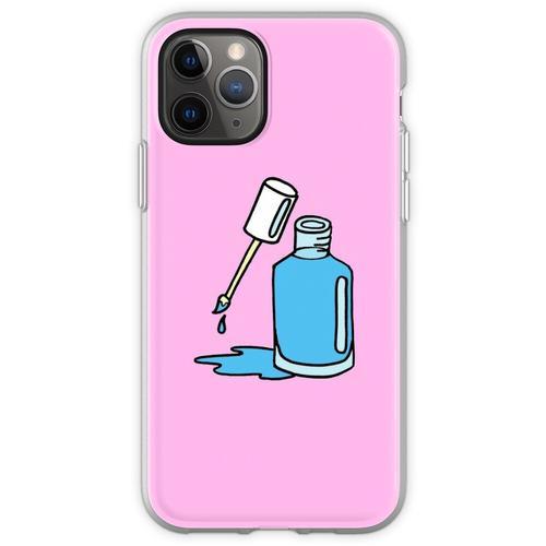 Blauer Nagellack Flexible Hülle für iPhone 11 Pro