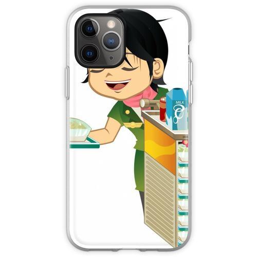 Asiatische Comic-Comic-Figuren Flexible Hülle für iPhone 11 Pro