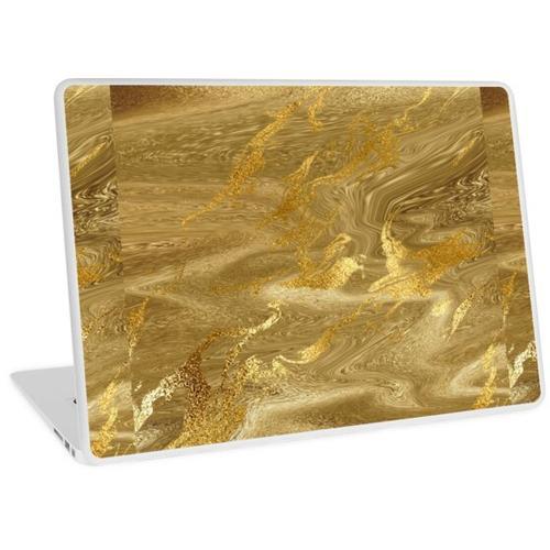 Gold Liquid Marble Metallic Folie Laptop Skin
