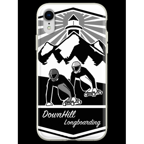 DownHill Longboarden Flexible Hülle für iPhone XR