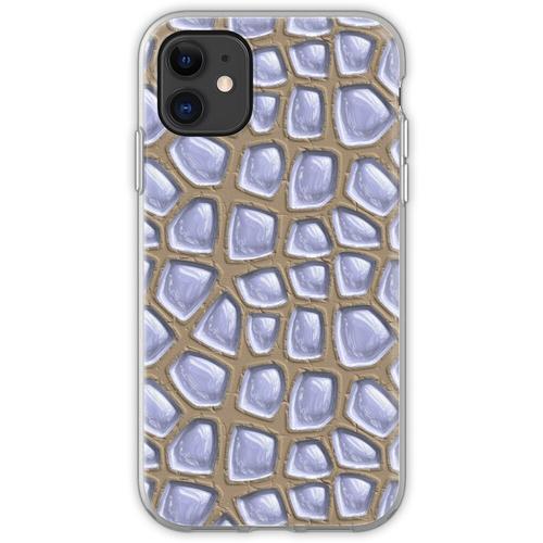 Es gibt Glasbausteine im Sand. Flexible Hülle für iPhone 11