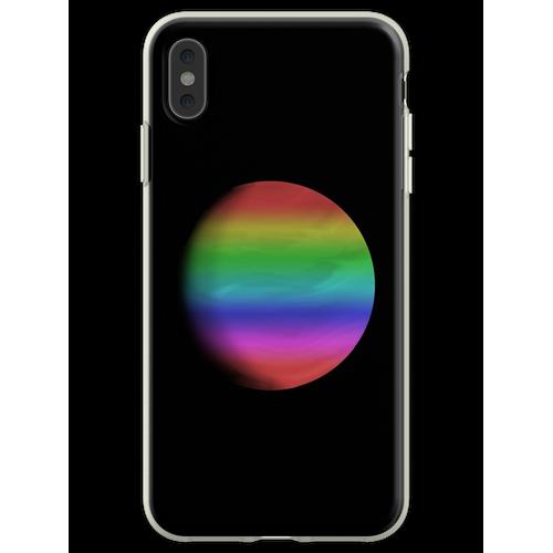 Ein Regenbogenplanet Flexible Hülle für iPhone XS Max