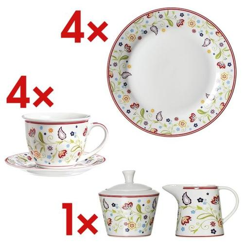14-tlg. Kaffee-Geschirr-Set »Shanti« weiß, Ritzenhoff & Breker, 20x2x20 cm