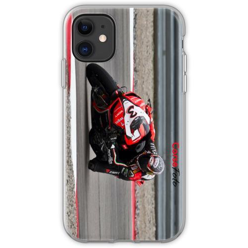 MAX BIAGGI im Miller Motorsports Park 2012 Flexible Hülle für iPhone 11