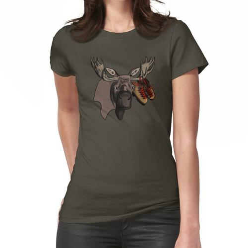 Elch mit Wanderschuhen Frauen T-Shirt