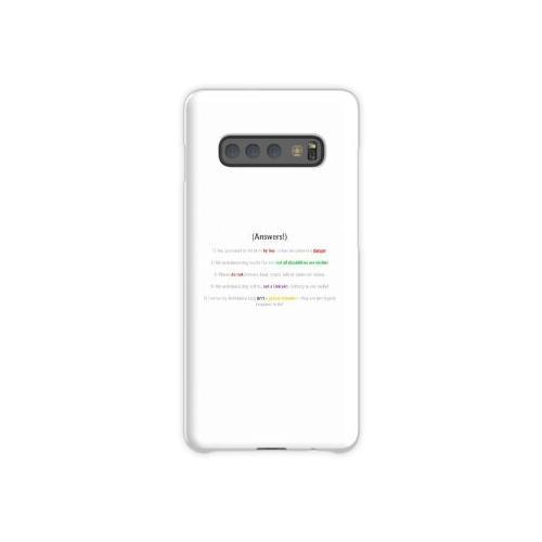 Assistenzhund FAQ Samsung Galaxy S10 Plus Case