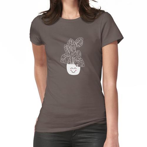 Bananenblattpflanze mit Da Good Vibes Frauen T-Shirt