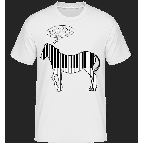 Klavier Zebra - Shirtinator Männer T-Shirt