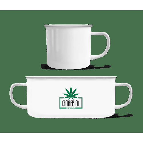 Cannabis Co. Icon - Emaille-Tasse