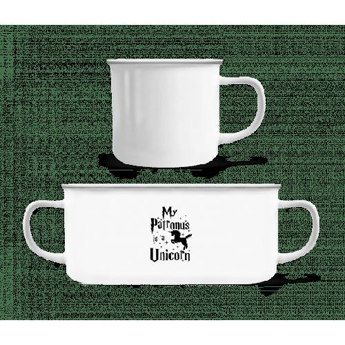 My Patronus Is A Unicorn - Emaille-Tasse