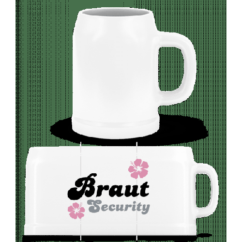 Braut Security Blumen - Bierkrug