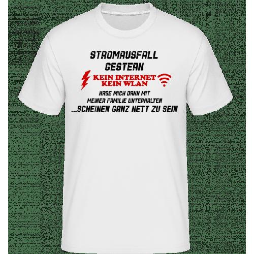 Stromausfall Wlan - Shirtinator Männer T-Shirt
