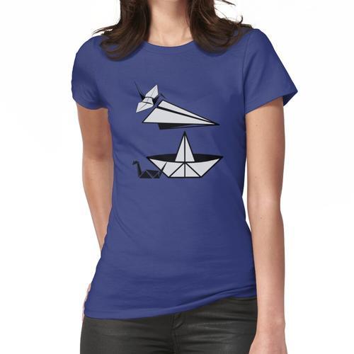 ORIGAMI Papierflugzeug Papier Ente und Papierkran Frauen T-Shirt