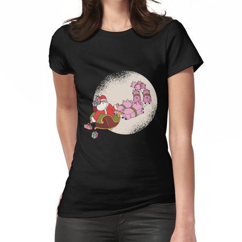 Weihnachtsmann Schlitten Weihnachten Frauen T-Shirt