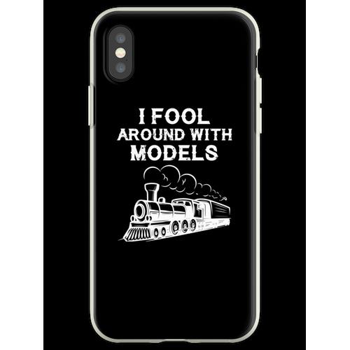 Züge Eisenbahn Lokomotive Eisenbahner Geschenk Flexible Hülle für iPhone XS