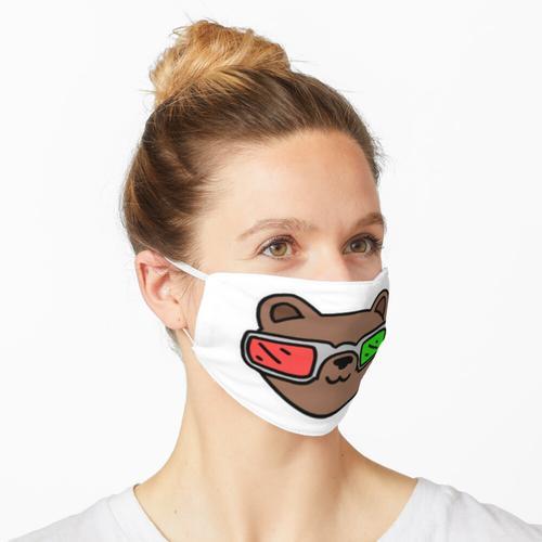 3-D Brille tragen Maske