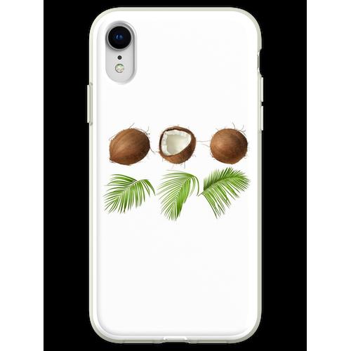 Kokusnuss-Palme Flexible Hülle für iPhone XR