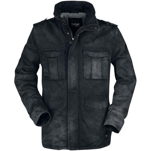 Black Premium by EMP Winterjacke mit Waschung im Used-Look Herren-Winterjacke - schwarz
