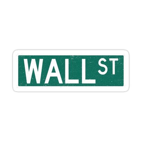 Wall Street Street Sign Sticker