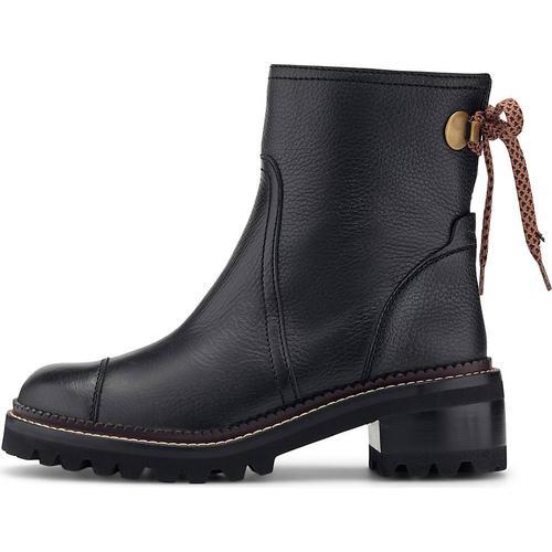 See by Chloé, Luxus-Stiefelette in schwarz, Boots für Damen Gr. 41