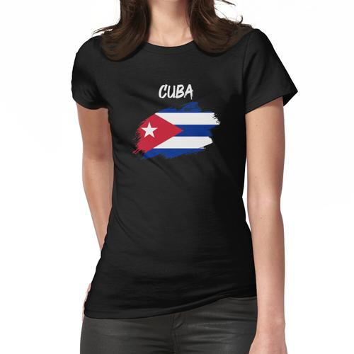 Kuba kubanisch Flagge Fahne Frauen T-Shirt