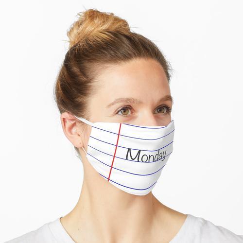 Montag - Liniertes Papier Maske