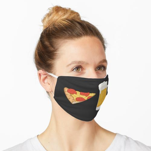 Pizza und Bier Maske