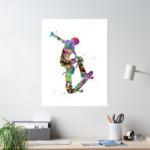 Skateboarder, Skateboard Poster