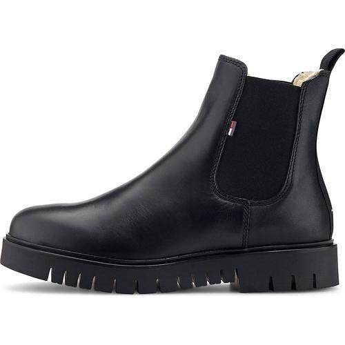 Tommy Jeans, Chelsea-Boots Warm Lined in schwarz, Boots für Damen Gr. 41