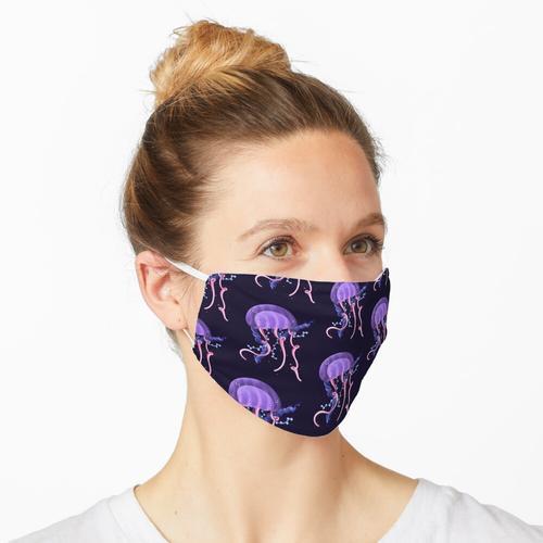 Fluoreszierende Qualle Maske