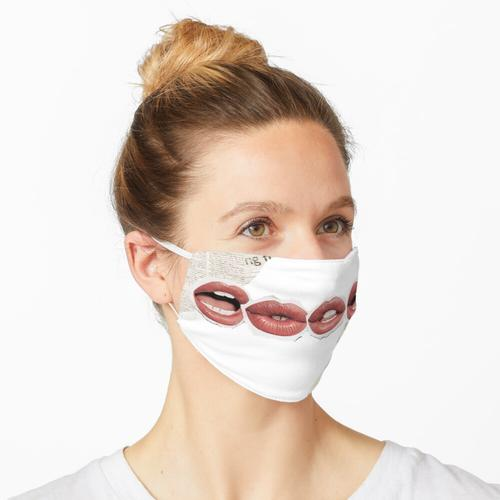 Zeitungslippen Maske