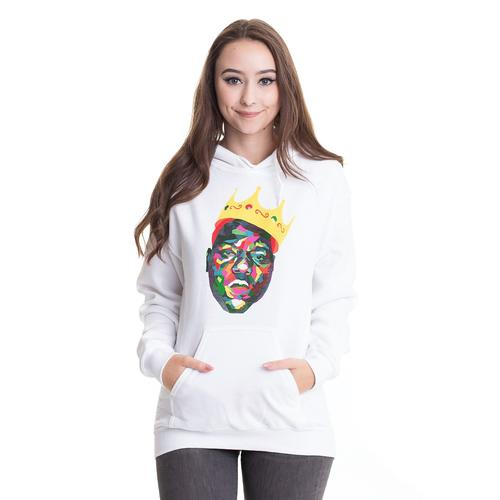 Notorious B.I.G. - Crown White - Hoodies