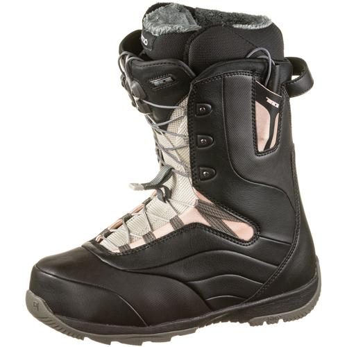 Nitro Snowboards Crown TLS Snowboard Boots Damen in BLACK-ROSE, Größe 26 1/2
