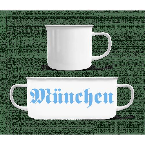München - Emaille-Tasse
