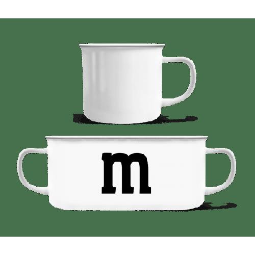M - Emaille-Tasse