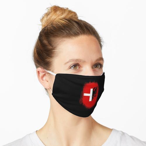 Schweiz Albanien Kosovo Fahne Maske