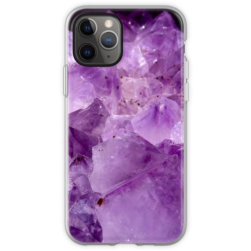 lila Kristallenergie Flexible Hülle für iPhone 11 Pro