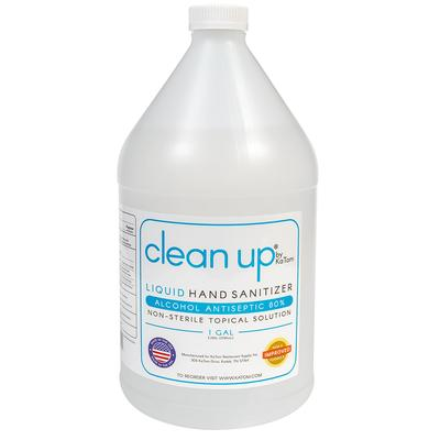 Clean Up K-SAN-L Alcohol Based Liquid Hand Sanitizer – 80% Antiseptic, 1 gallon Bottles