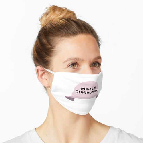 Frau im Bau Schutzhelm (Pink) Maske