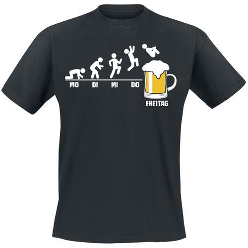 Bier Freitag Herren-T-Shirt - schwarz