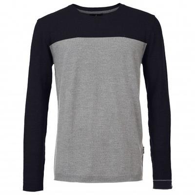 Pally'Hi - Knit Sweater Lounge Launcher - Merinopullover Gr L grau/schwarz