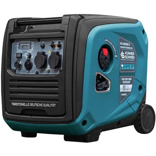 KS 4000iE S Invertergenerator. Schalldichtes Gehäuse (68 dB Lpa 7 m). Höchstleistung 4000 W, 2x16 A