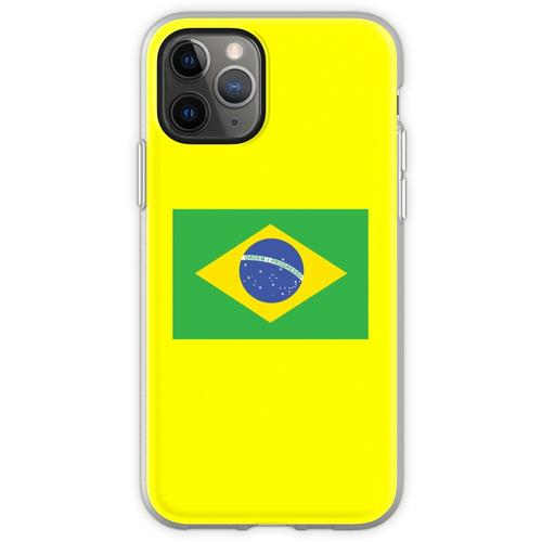 BRAZIL, BRAZILIAN FLAG, FLAG OF BRAZIL, PURE & SIMPLE, Brazil, Foot Flexible Hülle für iPhone 11 Pro