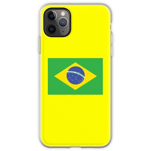 BRAZIL, BRAZILIAN FLAG, FLAG OF BRAZIL, PURE & SIMPLE, Brazil, Flexible Hülle für iPhone 11 Pro Max