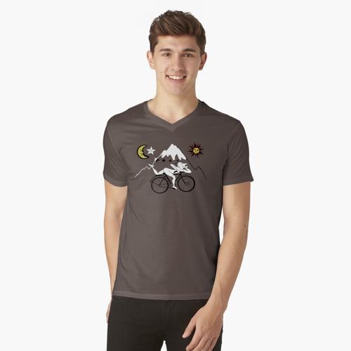 Fahrradtag t-shirt:vneck